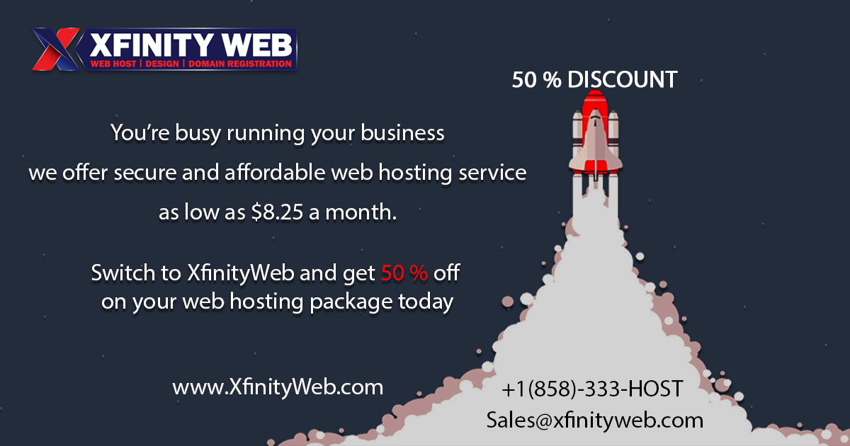 50% Discount on Hosting
